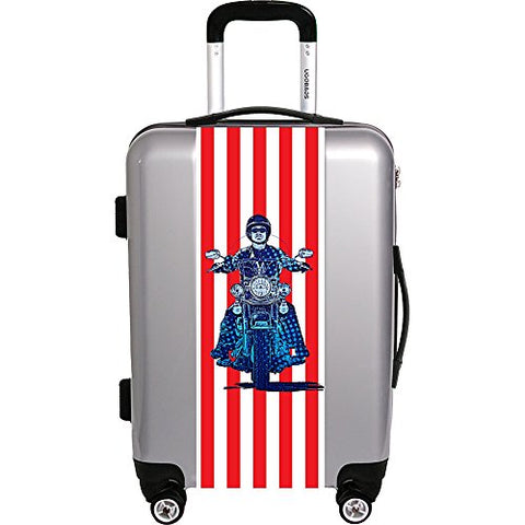 "Ugo Bags Patriotic Cyle By Gary Grayson 22"" Luggage (Silver)"