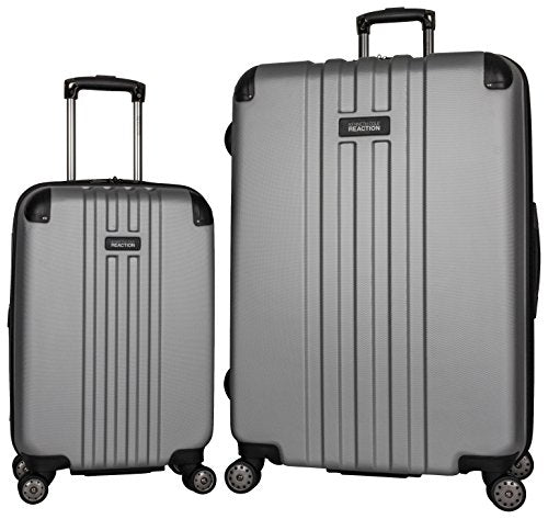 "Kenneth Cole Reaction Reverb Abs 8-Wheel Expandble Luggage 2 Piece Set 20"" and 29"" Sizes, Light Silver"