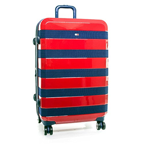 "Tommy Hilfiger Rugby 25"" Expandable Hardside Spinner, Red"