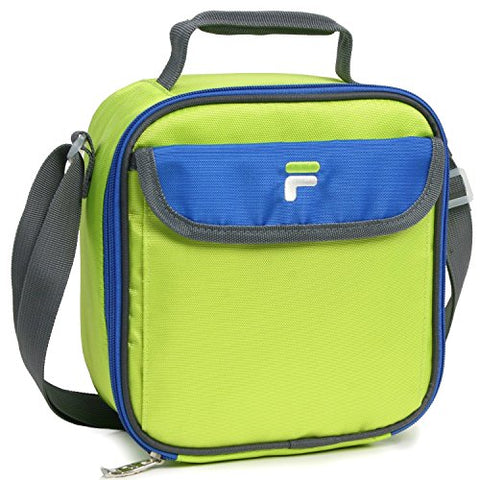 Fila Siesta Insulated Lunch Bag Container, Lime/Blue