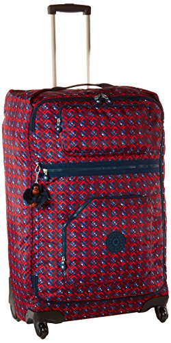 Kipling Women's Darcey Large Printed Wheeled Luggage, Groovy Lines