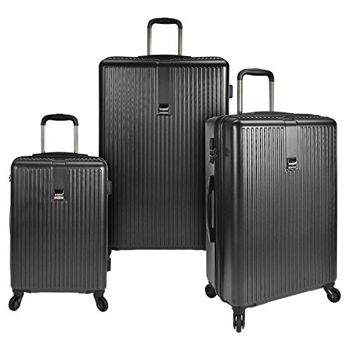 U.S. Traveler Sparta 3-Piece Hardside Spinner Set, Charcoal
