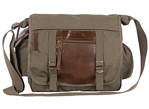 Fox Outdoor Products Deluxe Concealed-Carry Messenger Bag, Olive Drab