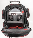 "Mobile Edge - Core Gaming Backpack with Molded Front Panel 17""-18"" - Black with Red Trim (MECGBP1)"