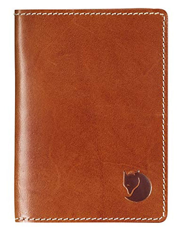 Fjallraven - Leather Passport Cover, Leather Cognac