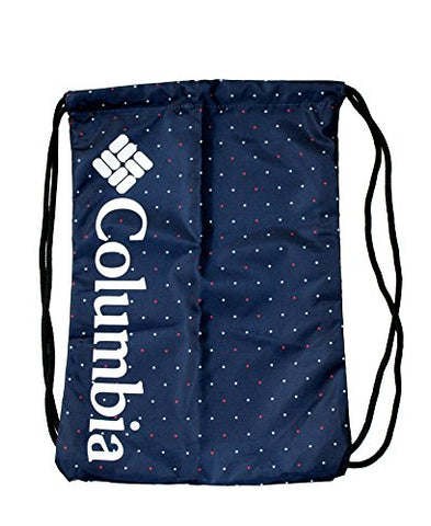 COLUMBIA Gym Drawstring Bags SWISS DOT MULTI COLLEGATE NAVY