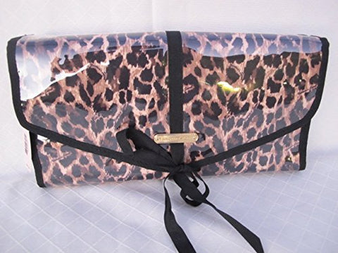 Victorias Secret Leopard Travel Beauty Cosmetics Toiletry Hanging Clutch Bag