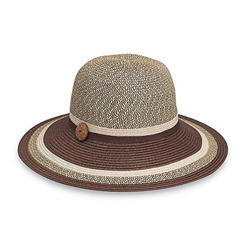 Wallaroo Women's Nola Sun Hat - 100% Paper Braid - UPF 50+, Brown