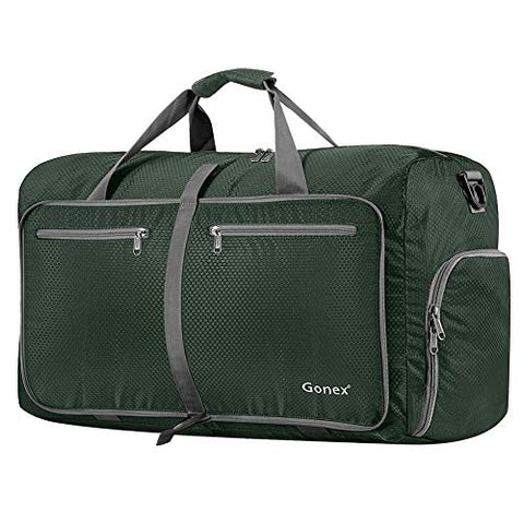 Gonex 80L Foldable Travel Duffle Bag for Luggage, Gym, Sport, Camping, Storage, Shopping Water
