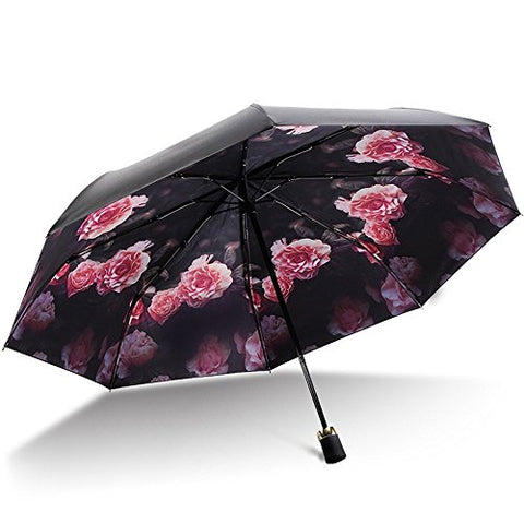 HOMEE Retro sunscreen rain and rain umbrella foldable sun umbrella vinyl anti-uv umbrella
