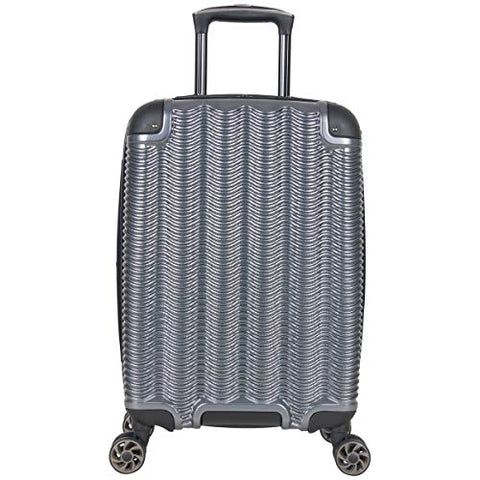 "Kenneth Cole Reaction Wave Rush 20"" Lightweight Hardside PET 8-Wheel Spinner Expandable Checked"