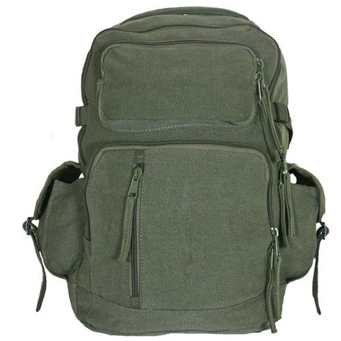 Fox Outdoor Products Retro Yukon Mountaineering Rucksack, Olive Drab
