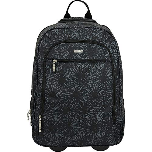 Baggallini Wheeled Laptop Backpack, Onyx Floral