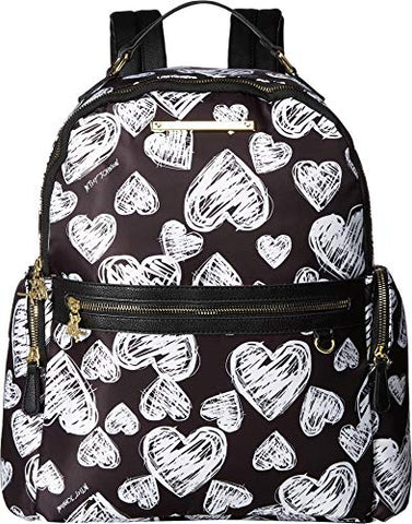 Betsey Johnson Women's Printed Backpack Black/White One Size