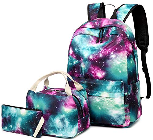 School Backpack Galaxy Teens Girls Boys Kids School Bags Bookbag with Laptop Sleeve (Galaxy