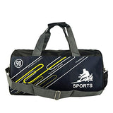 ABage Men's Gym Duffel Bag Large Printed Carry On Travel Workout Sport Gear Bag, Dark Blue