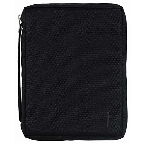 Black Cross 7 x 9.5 inch Reinforced Polyester Bible Cover Case with Handle