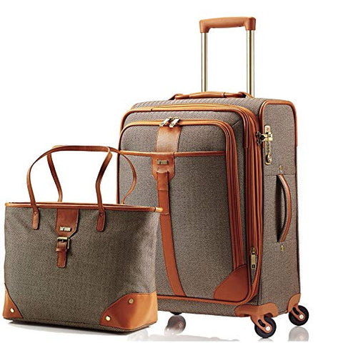 Hartmann Herringbone Luxe Softside Carry-On Set Terracotta (Terracotta)