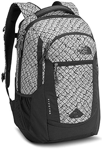 The North Face Pivoter Backpack Lunar Ice Grey Chainlink Print