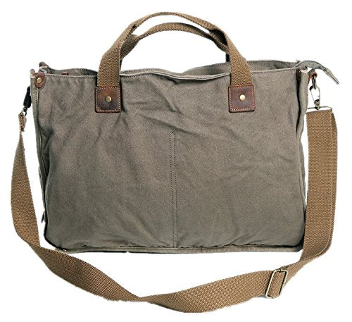 "Vagabond Traveler 15"" Canvas Messenger Casual Bag With Lift Handle C34.Grn"
