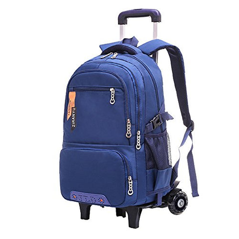 Fanci Waterproof Elementary Trolley Rolling School Backpack Book Bag for Boys Middle High Wheeled