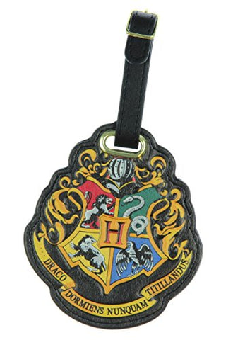 Harry Potter Hogwarts Crest Luggage Tag ,Black ,One_Size