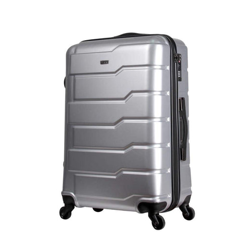 Travel Boarding Case, Universal Wheel Abs Zipper, Travel Outdoor Boarding Case Gift Gift Box Travel Air Travel Case, Silver, 20 inch