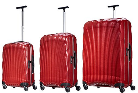 Samsonite Luggage Black Label Cosmolite 3 Piece Spinner Luggage Set (One size, Red)
