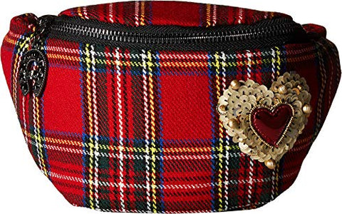 Betsey Johnson Women's Get Waisted Fanny Pack Red One Size