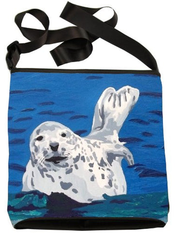 Seal Small Cross Body Handbag - From My Original Paintings, Support Wildlife Conservation, Read How