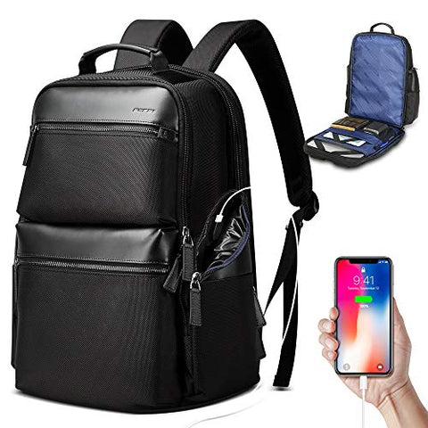 Bopai 34L Business Travel Backpack Anti Theft Bag Pack with USB Charging 15.6 inch Laptop
