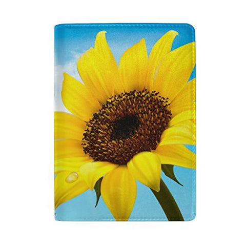 ColourLife Sunflower Field Lovely Print Vegan Leather Passport Holder