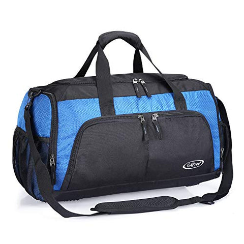 G4Free Sports Gym Bag with Shoes Compartment 45L Travel Duffel Bag U Shape Zipper Duffles for Men &
