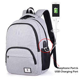 2-FNS Classical Oxford Laptop Backpack for School, Boys Girls Bookbags for High School College with