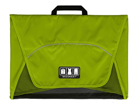"BAGSMART 17"" Packing Folder Anti-wrinkle Travel Garment Bag Luggage Organizer, Green"