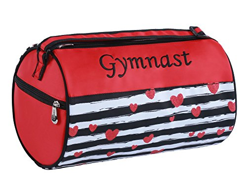 "Sassi Designs Love To Dance Gymnast Small Roll Duffel Bag Size: Small 7"" X 12"""