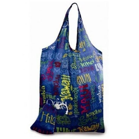 Hawaiian Island Doodles Eco-Foldable Reusable Tote Bag