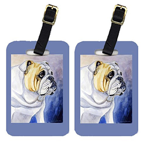 Caroline's Treasures 7028BT Pair of 2 English Bulldog Luggage Tags, Large, multicolor