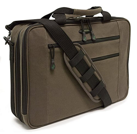 "Mobile Edge Eco-Friendly Canvas 17"" Macbook Briefcase, Laptop Case In Olive"