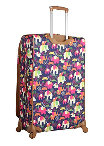 fb79779a1aac Lily Bloom Luggage 3 Piece Softside Spinner Suitcase Set Collection  (Elephant Rain)