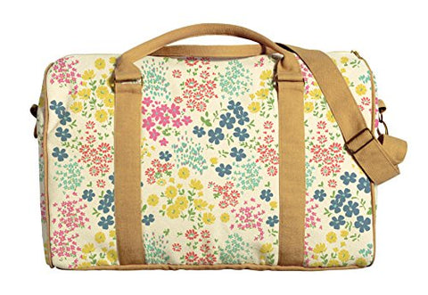 Seamless Ditsy Floral Pattern Printed Canvas Duffle Luggage Travel Bag Was_42