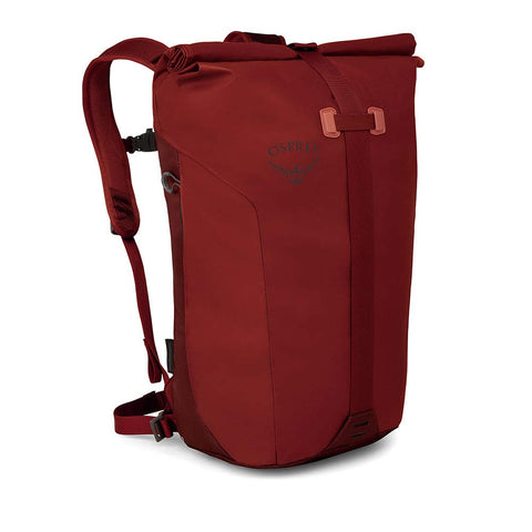 Osprey Packs Transporter Roll Top Laptop Backpack, Ruffian Red