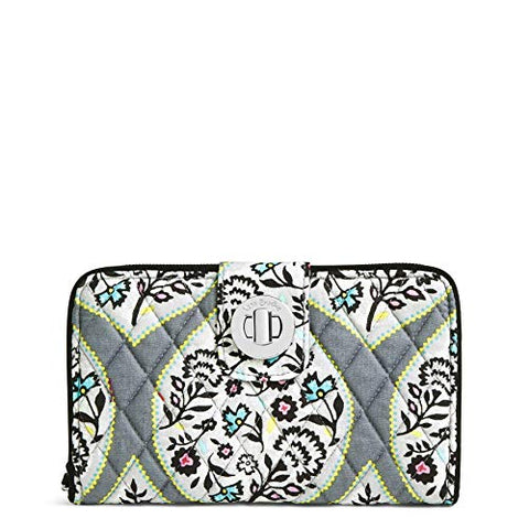 Vera Bradley Women's RFID Turnlock Wallet-Signature, Heritage Leaf, One Size