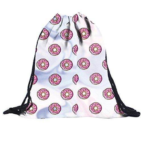 AutumnFall Unisex Funny Print Drawstring Bags School Backpack Gym Sackpack (# 8)