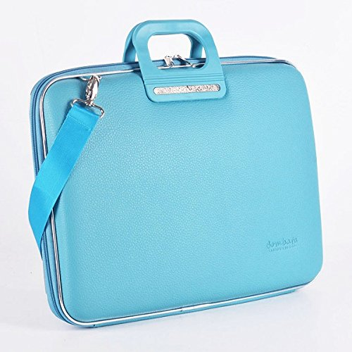 Bombata Bag Firenze Briefcase for 17 Inch Laptop - Turquoise