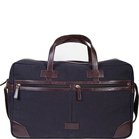 Scully Cambria Berkeley Travel Duffel Bag (Brown Leather & Midnight Navy