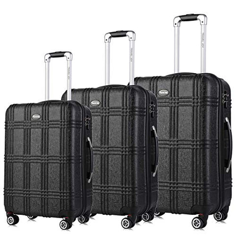 "Expandable Spinner Luggage Set,Tsa Lightweight Hardside Luggage Sets, 20"" 24""28 Inches Luggage"