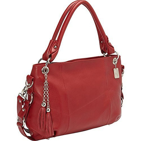 Claire Chase Women'S Andrea Tablet Handbag Travel Shoulder Bag, Red, One Size