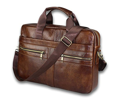 Timeless Genuine Leather Messenger Bag for Men – Gorgeous Superior Brown Carry All Briefcase with