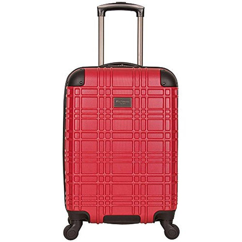 "Ben Sherman Nottingham 20"" Embossed Pap 4-Wheel Upright Carry-On In Red"